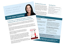 Cindy Giles Speaker One Sheet