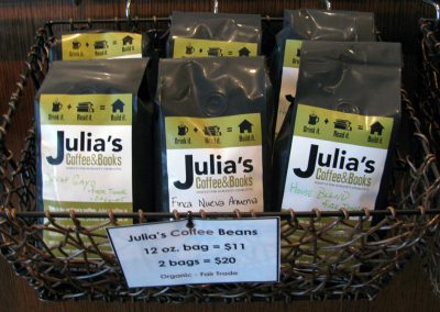 Julia's Coffee & Books Rebrand